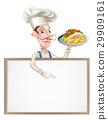 烤肉串 布告牌 卡通 29909161