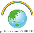 Earth and rainbow 29909297