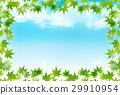 단풍 잎 여름 배경 29910954