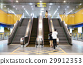 Stairs and escalators of subway station 29912353