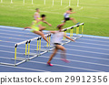 Blur motion of a hurdles race 29912356