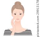 患有雀斑的婦女 29913178