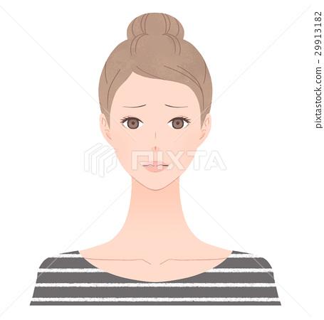 곤란 얼굴의 여성 29913182