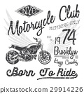 T-shirt typography print design, motorcycle vector 29914226