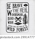 Lumberjack vintage label with axe and trees vector 29914777
