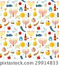 Rosh Hashanah, Shana Tova seamless pattern vector 29914833