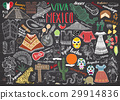 Mexico hand drawn sketch set vector 29914836