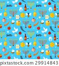 Rosh Hashanah, Shana Tova seamless pattern vector 29914843