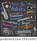 Music Instruments Set. Hand Drawn Sketch, Vector 29914845