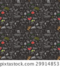 mushroom, seamless, vector 29914853