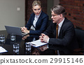 businessman, meeting, papers 29915146