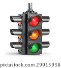 Traffic lights isolated on white background 29915938