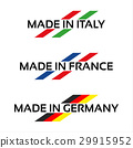 Vector set logos Made in Italy, Made in France 29915952