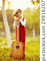 cute little girl with guitar 29916207
