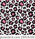 Leopard skin hand drawn. Seamless Pattern. Vector 29916282