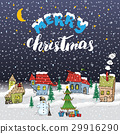 Merry Christmas Hand drawn doodle Vector  29916290