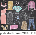 Fashion collection Doodles set. Sketch vector 29916319