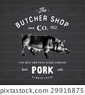 butcher pork vector 29916875
