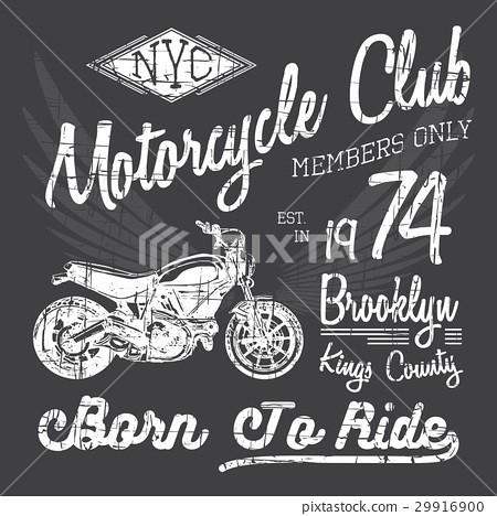 T-shirt typography print design, motorcycle vector 29916900