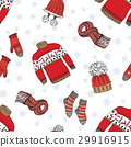 Winter season clothes seamless pattern vector  29916915