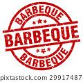 barbeque round red grunge stamp 29917487