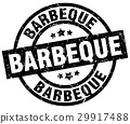barbeque round grunge black stamp 29917488