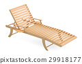 Wooden sun lounger, 3D rendering 29918177