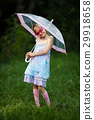 young fashion girl with umbrella 29918658