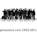Group of business peoples, black silhouettes 29921851