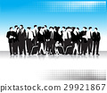 Group of business peoples, black silhouettes 29921867