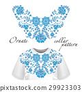 Neck print vector floral design. Fashion white 29923303