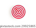 Red target with red arrow on goal,business concept 29925865