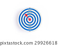 Blue target with red arrow and words on goal 29926618