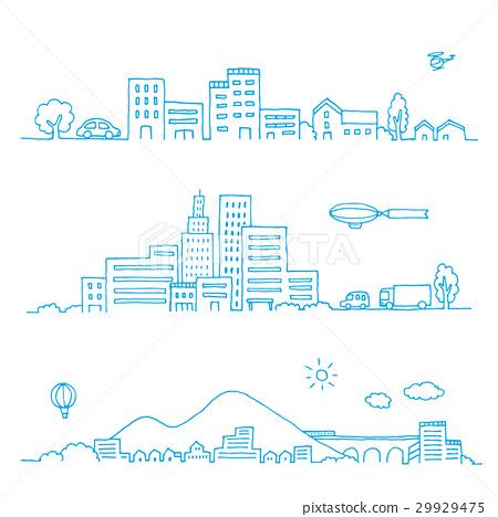 手繪的城市景觀集 29929475