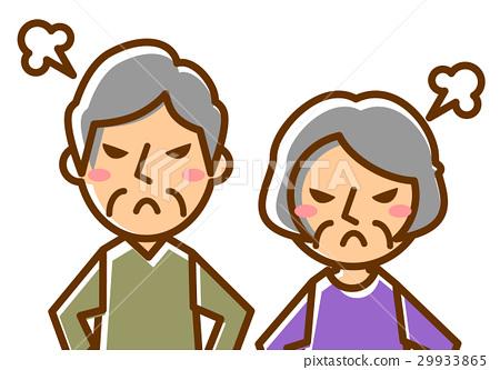 老年夫婦上半部分很生氣 29933865