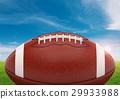 football on field 29933988