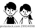 夫婦微笑的臉 29934098