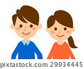 夫婦微笑的臉 29934445
