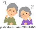 想想老年夫婦的上半身 29934465