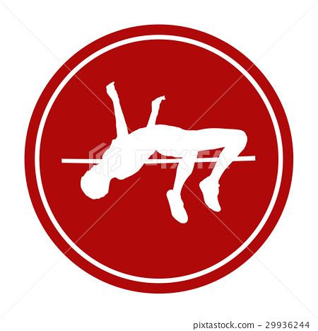 icon high jump female athlete 29936244