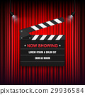 cinema, sign, curtain 29936584