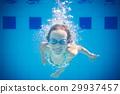 Underwater portrait of child 29937457