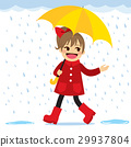 Girl Raining Spring 29937804