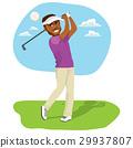 African American Golfer 29937807