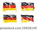 Flag of Germany, hand drawn watercolor 29938140