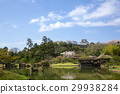 Spring Hikone Castle seen from the Buddha Paradise 29938284
