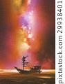 boat starry sky 29938401