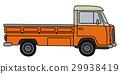 卡車 小 橙色 29938419