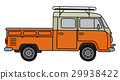 minivan, transportation, orange 29938422