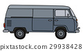 Classic gray minivan 29938428